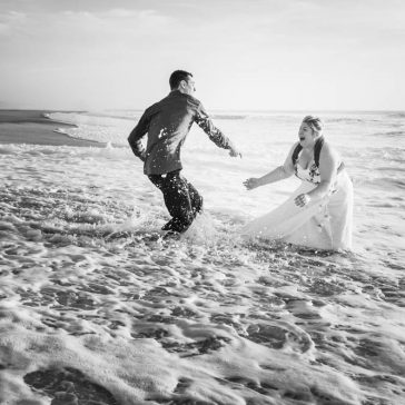 Photographe Landes, séance trash the dress, Isabelle et Yoann