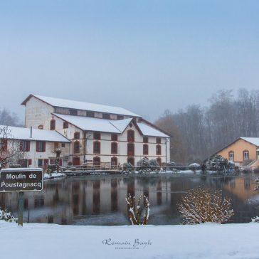 Saint-Paul-lès-Dax sous la neige